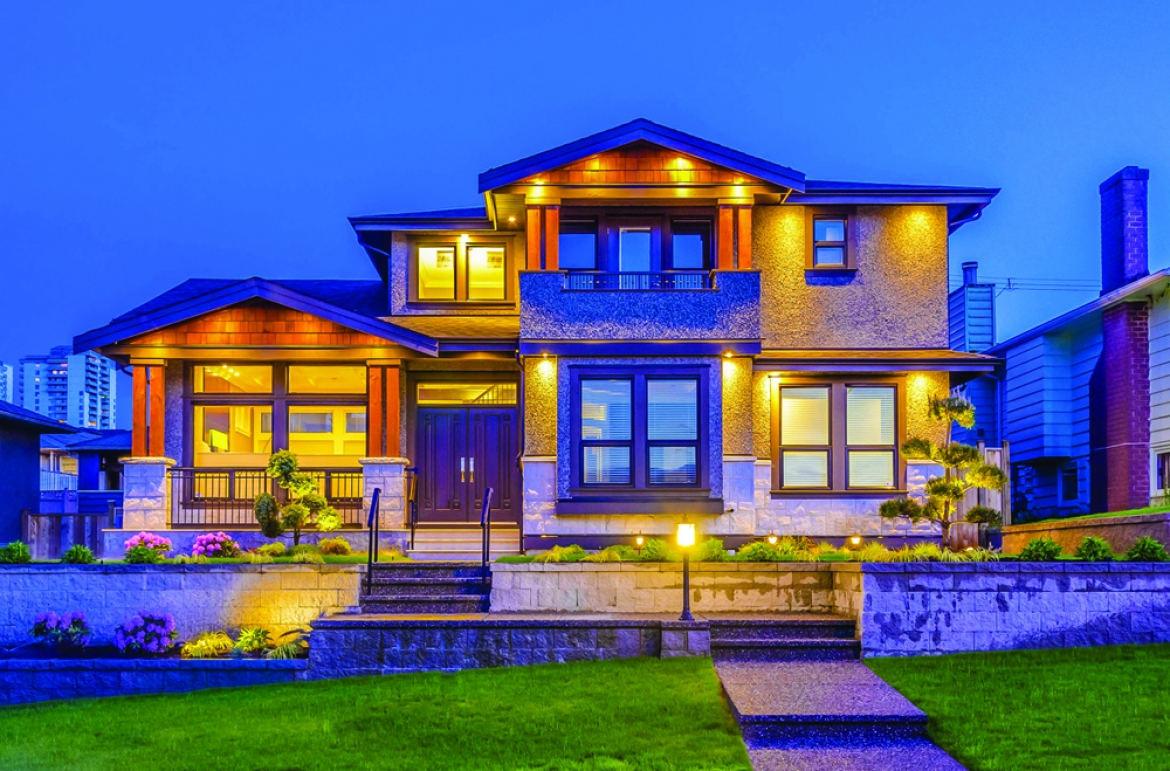 Exterior lighting improves the safety and appearance of a home