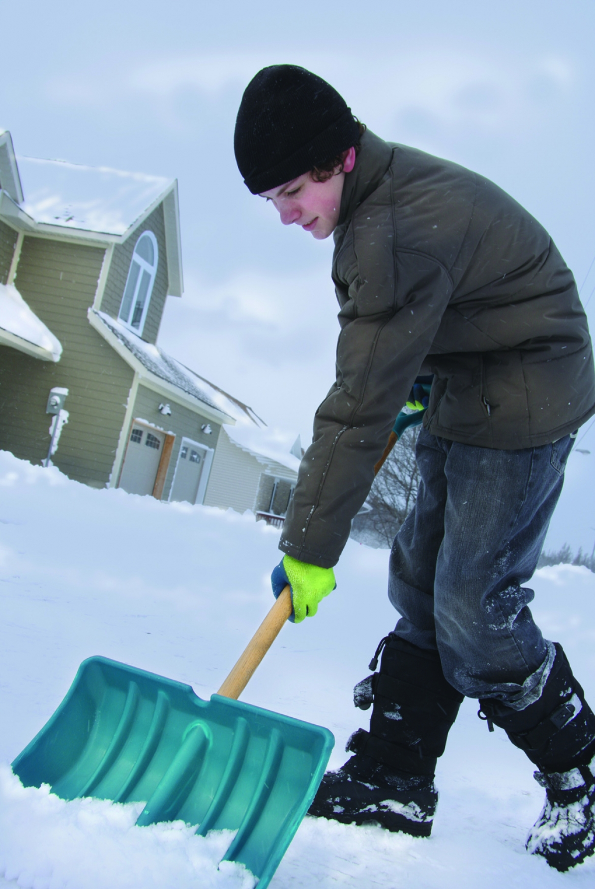 Green ways to clean up snow